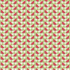 Tricoline Fatias no Xadrez Picnic, 100% Algodão, Unid. 50cm x 1,50mt