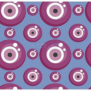 Tecido Olho Grego Cor 02 (Azul), 100% Algodão, Unid. 50cm x 1,50mt