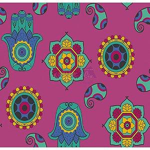 Tecido Talismã Cor 03 (Rosa), 100% Algodão, Unid. 50cm x 1,50mt