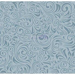 Tecido Arabesco Verona Cor - 02 (Azul Vintage), 100% Algodão, Unid. 50cm x 1,50mt