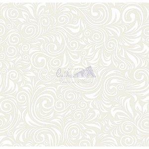 Tecido Arabesco Verona Cor - 06 (Creme com Branco), 100% Algodão, Unid. 50cm x 1,50mt