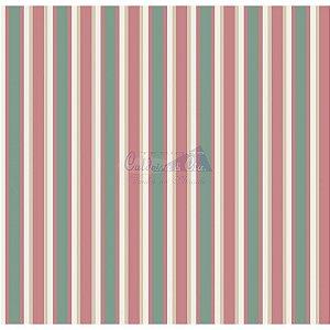 Tecido Listrado Toscana Cor - 01 (Verde), 100% Algodão, Unid. 50cm x 1,50mt