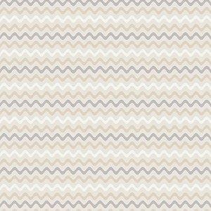 Tricoline Sianinha Bege e Cinza, 100% Algodão, Unid. 50cm x 1,50mt