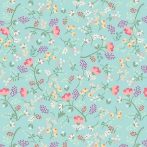 Tricoline Digital Mini Floral Viva La Vida Happy 100% Algodão, Unid. 50cm x 1,50mt