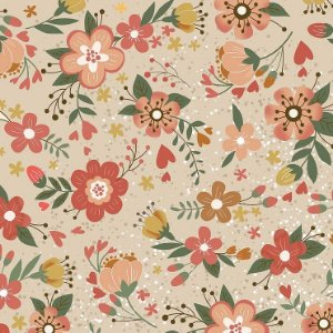 Tricoline Digital Floral Viva La Vida Country 100% Algodão, Unid. 50cm x 1,50mt