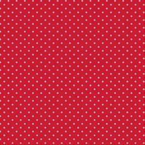 Tricoline Poá Tom Tom (Vermelho) - 100% Algodão, Unid. 50cm x 1,50mt
