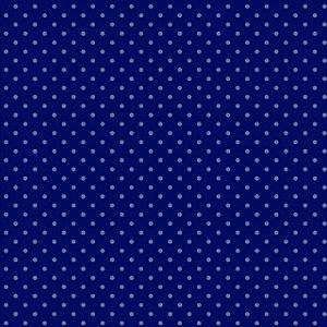 Tricoline Poá Tom Tom (Azul Escuro) - 100% Algodão, Unid. 50cm x 1,50mt