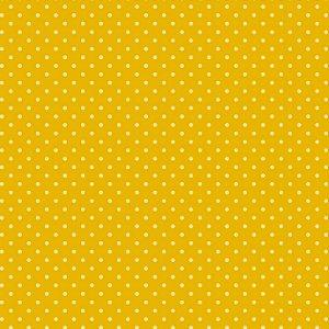 Tricoline Poá Tom Tom (Amarelo) - 100% Algodão, Unid. 50cm x 1,50mt