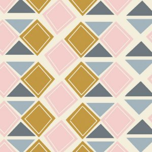 Tricoline Triângulos, 100% Algodão, Unid. 50cm x 1,50mt