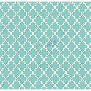 Tricoline Estampado Ana Cor - 05 (Tiffany), 100% Algodão, Unid. 50cm x 1,50mt