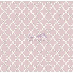Tricoline Estampado Ana Cor - 08 (Rosa), 100% Algodão, Unid. 50cm x 1,50mt