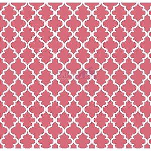 Tricoline Estampado Ana Cor - 09 (Coral), 100% Algodão, Unid. 50cm x 1,50mt