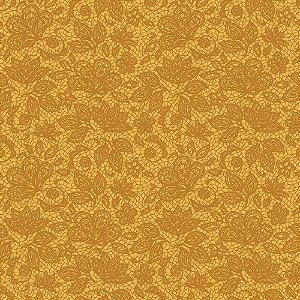 Tricoline Renda Mostarda, 100% Algodão, Unid. 50cm x 1,50mt