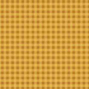 Tricoline Xadrez Mostarda, 100% Algodão, Unid. 50cm x 1,50mt