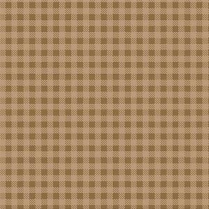 Tricoline Xadrez Café com Leite, 100% Algodão, Unid. 50cm x 1,50mt