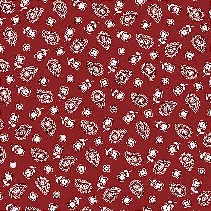 Tricoline Mini Cashmere Vermelho, 100% Algodão, Unid. 50cm x 1,50mt