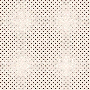 Tricoline Mini Poá Ferrugem, 100% Algodão, Unid. 50cm x 1,50mt