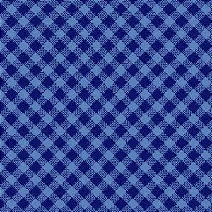 Tricoline Estampado Xadrez Diagonal Azul Marinho - 100% Algodão, Unid. 50cm x 1,50mt