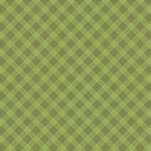 Tricoline Estampado Xadrez Diagonal Verde Pistache - 100% Algodão, Unid. 50cm x 1,50mt