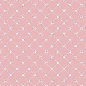 Tricoline Estampado Básico Paris Rosa, 100% Algodão, Unid. 50cm x 1,50mt