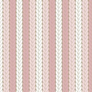 Tricoline Estampado Tricô Rosa, 100% Algodão, Unid. 50cm x 1,50mt