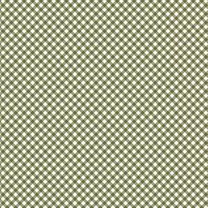 Tricoline Estampado Micro Xadrez Verde, 100% Algodão, Unid. 50cm x 1,50mt