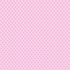 Tricoline Estampado Mini Vitral Rosa Bebê, 100% Algodão, Unid. 50cm x 1,50mt
