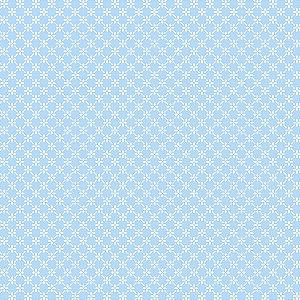 Tricoline Estampado Cerca de Flores Azul Bebê, 100% Algodão, Unid. 50cm x 1,50mt
