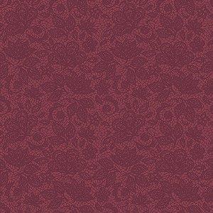Tricoline Estampado Renda Uva, 100% Algodão, Unid. 50cm x 1,50mt