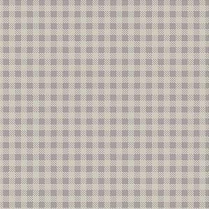 Tricoline Estampado Xadrez Cinza, 100% Algodão, Unid. 50cm x 1,50mt