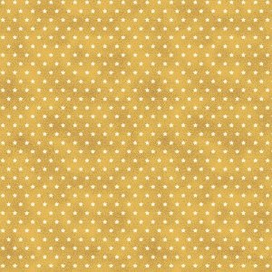 Tricoline Estampado Estrelinha Mostarda, 100% Algodão, Unid. 50cm x 1,50mt