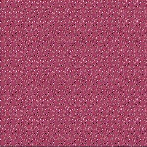 Tricoline Estampado Palitos Japoneses, 100% Algodão, Unid. 50cm x 1,50mt