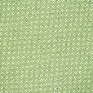 Tricoline Estampado Micro Poá Verde Maçã, 100% Algodão, Unid. 50cm x 1,50mt