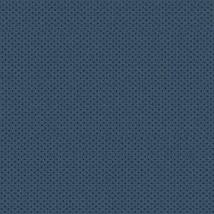 Tricoline Estampado Poá Tom Tom Azul Noturno, 100% Algodão, Unid. 50cm x 1,50mt