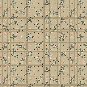 Tricoline Estampado Folhagens Angelicais, 100% Algodão, Unid. 50cm x 1,50mt