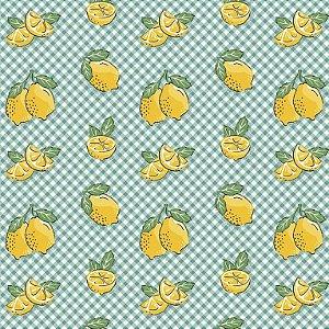 Tricoline Estampado Mini Limões, 100% Algodão, Unid. 50cm x 1,50mt
