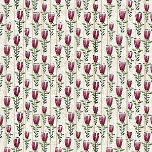 Tricoline Digital Mini Floral Elegance Crú 100% Algodão, Unid. 50cm x 1,50mt