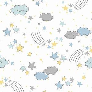 Tecido Tricoline Estampado Sonhos, 100% Algodão, Unid. 50cm x 1,50mt