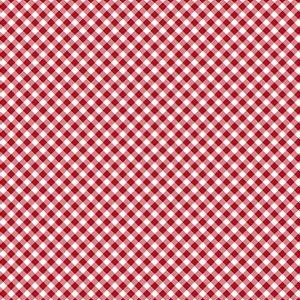 Tricoline Estampado Mini Xadrez Diagonal Vermelho- 100% Algodão, Unid. 50cm x 1,50mt