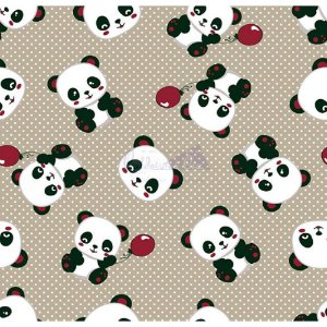 Tecido Tricoline Panda (Bege), 100% Algodão, Unid. 50cm x 1,50mt