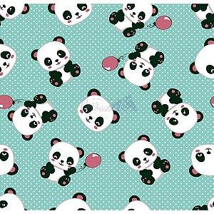 Tecido Tricoline Panda (Tiffany), 100% Algodão, Unid. 50cm x 1,50mt