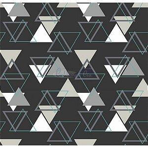 Tecido Tricoline Memphis (Preto), 100% Algodão, Unid. 50cm x 1,50mt