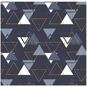 Tecido Tricoline Memphis (Marinho), 100% Algodão, Unid. 50cm x 1,50mt