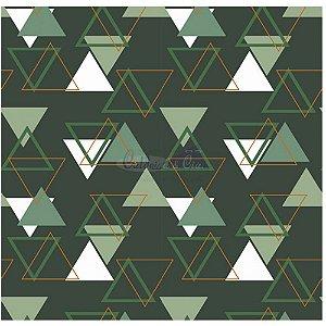 Tecido Tricoline Memphis (Verde), 100% Algodão, Unid. 50cm x 1,50mt