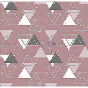 Tecido Tricoline Memphis (Rose), 100% Algodão, Unid. 50cm x 1,50mt