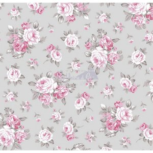 Tecido Tricoline Magnolia (Cinza-Rosa), 100% Algodão, Unid. 50cm x 1,50mt