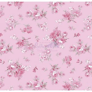 Tecido Tricoline Raika (Rose), 100% Algodão, Unid. 50cm x 1,50mt