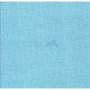 Tricoline Textura Efeito (Turquesa), 100% Algodão, Unid. 50cm x 1,50mt