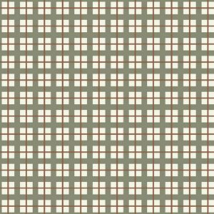 Tricoline Xadrez Verde e Terra, 100% Algodão, Unid. 50cm x 1,50mt