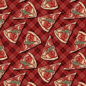 Tricoline Digital Mini Pizzas, 100% Algodão, Unid. 50cm x 1,50mt